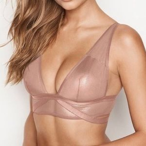 Victoria's Secret Shine Mesh Plunge Bralette - S